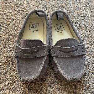 Gap Toddler Boy Loafer Suede Gray Shoes Size 6